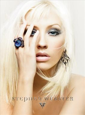 Christina Aguilera Is Already The Face Of Stephen Websters Celeb Favored Jewelry Line And Rocks A 5 Carat Webster Wedding Ring Now Shes Also Serving